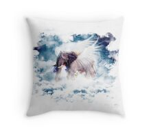 Elephant sky Throw Pillow