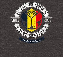 People of Tomorrowland Flags logo Badge - belgium - belgique - belgië - belgien Unisex T-Shirt