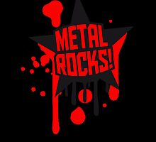 Metal Rocks Graffiti Star by Style-O-Mat