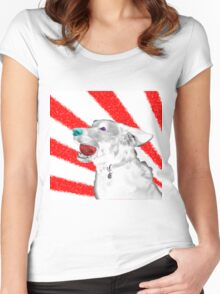 Snow Dog (Japan?) Women's Fitted Scoop T-Shirt