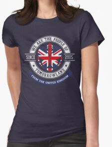 People of Tomorrowland Flags logo Badge - UK - Union Jack  - great britain - royaume uni Womens Fitted T-Shirt