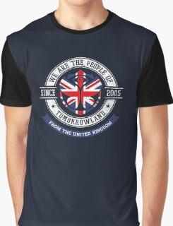 People of Tomorrowland Flags logo Badge - UK - Union Jack  - great britain - royaume uni Graphic T-Shirt