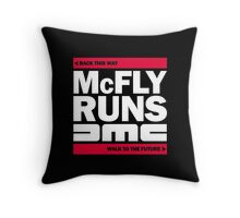 McFly Runs DMC - Back This Way, Walk to the Future Throw Pillow