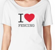 I ♥ FENCING Women's Relaxed Fit T-Shirt