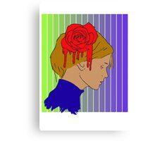 Vector Rose Girl Canvas Print