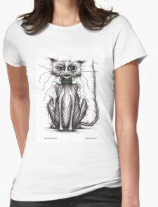 Grumpy puss Womens Fitted T-Shirt