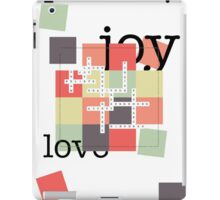 A Crossword Puzzle - Life's To Do's and To Have's iPad Case/Skin