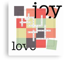 A Crossword Puzzle - Life's To Do's and To Have's Canvas Print