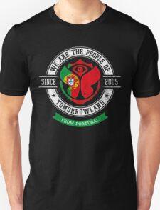 People of Tomorrowland Flags logo Badge - Portugal - Portuguese - português Unisex T-Shirt