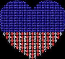 Patriotic Heart by eldonshorey
