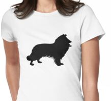 Border Collie Womens Fitted T-Shirt