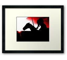Headless - Red Framed Print