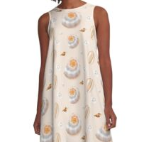 Gorgeous seashells and pearls A-Line Dress