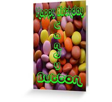 Happy Birthday Candy Button  Greeting Card