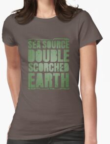 Sea Source, Double Scorched Earth Womens Fitted T-Shirt