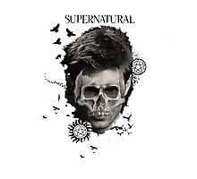 Supernatural-Skull Dean Photographic Print