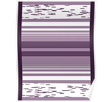 Pattern 009 Broad Square Purple Pattern Poster
