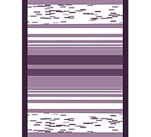 Pattern 009 Broad Square Purple Pattern Photographic Print
