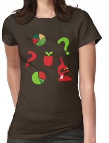 Science is fun Pattern Womens Fitted T-Shirt