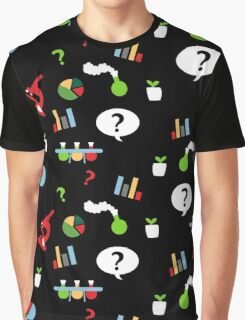 Science is fun Pattern Graphic T-Shirt