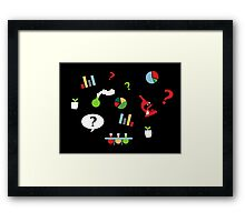 Science is fun Pattern Framed Print