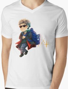 Doctor Who - Star powered TARDIS jetpack Mens V-Neck T-Shirt