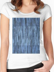 Pattern 010 Blue Purple Square Patterns Women's Fitted Scoop T-Shirt
