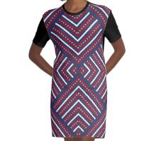 American Patriotic Pattern USA Independence Design  Graphic T-Shirt Dress