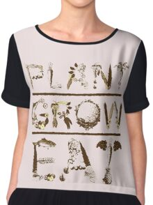 PLANT GROW EAT Chiffon Top