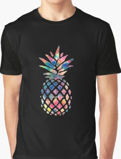 Rainbow Pineapple Graphic T-Shirt
