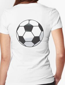 SOCCER, BALL, SPORT, SOCCER, FOOTBALL, FOOTBALLER, BALL, The beautiful game, BLUE Womens Fitted T-Shirt