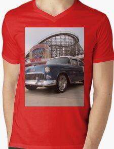 A Cool Classic Car And A Coaster Mens V-Neck T-Shirt