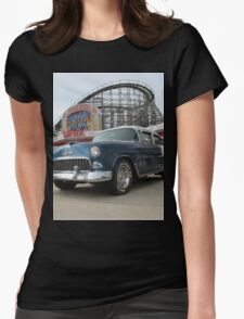 A Cool Classic Car And A Coaster Womens Fitted T-Shirt