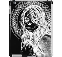 Day of the Dead Mandala Girl (Black and White Inverted)  iPad Case/Skin