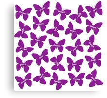Butterfly Words Canvas Print