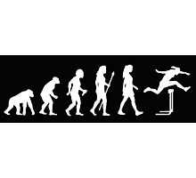 Funny Women's Hurdles Evolution Photographic Print