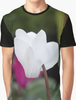 White Petal Flower Graphic T-Shirt
