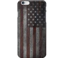 American Flag on Weathered Wood iPhone Case/Skin