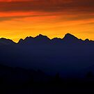 Sunset over the mountains by annalisa bianchetti