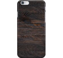 Brown Old Weathered Wood Wall Texture iPhone Case/Skin