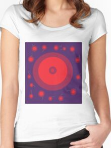 Red design by Moma Women's Fitted Scoop T-Shirt