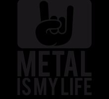 Metal is my Life Satan Hand Logo by Style-O-Mat