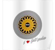 BBS RS / I heart Split Spokes Poster