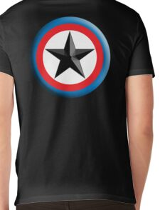 Bulls Eye, Star, Target, Roundel, Archery, Star, Badge, Buttton, on Black, Mens V-Neck T-Shirt