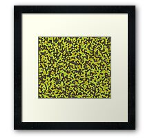 yellow and brown abstract camo 2 Framed Print