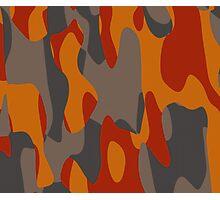burnt orange camo abstract Photographic Print