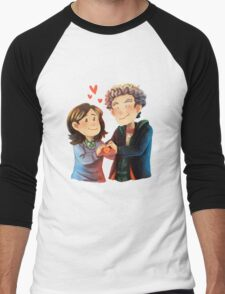 Doctor Who - Whouffaldi Heart Men's Baseball ¾ T-Shirt