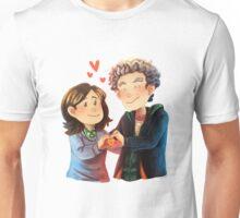 Doctor Who - Whouffaldi Heart Unisex T-Shirt