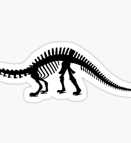 Brontosaurus skeleton Sticker