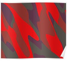 red purple and gray abstract Poster